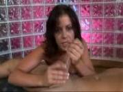 Penny Flame takes this dick in her hands and makes it cum